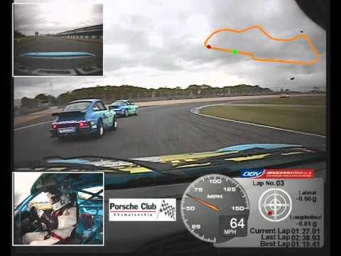 Porsche Race in-car video 3 camera