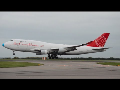 Air Cargo Global | 747-409BCF | OM-ACG | Landing At East Midlands Airport | HD