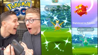 I CAUGHT BOTH SHINY LEGENDARIES IN THE SAME DAY OMG! + HATCHING DARUMAKA in Pokémon GO!
