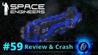 CMB Colossus Class Cargo Ship Review and Crash! Space Engineers Part 59