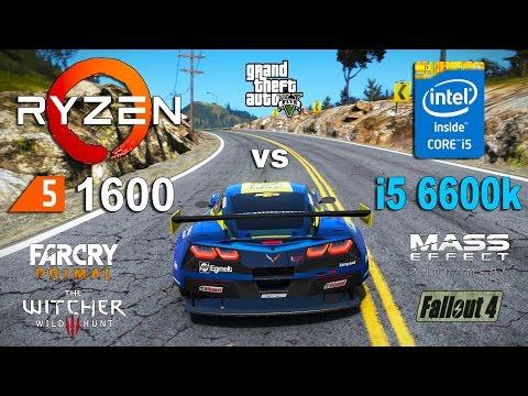Ryzen 5 1600 vs i5 6600k Test in 7 Games (GTX 1060)