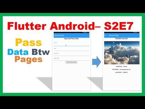 Flutter Widgets → Flutter Pass Data Between Screens/Pages