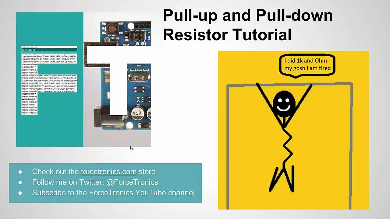 pull up and pull down resistor tutorial youtube rh youtube com Resistor Symbol Blower Motor Resistor Problems