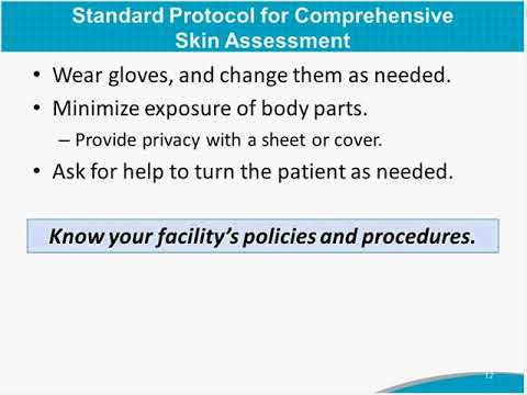 Conducting A Comprehensive Skin Assessment: AHRQ Preventing Pressure Ulcers In Hospitals Toolkit