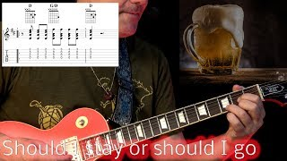 Should I Stay or Should I Go ( The Clash ) - Guitar Lesson