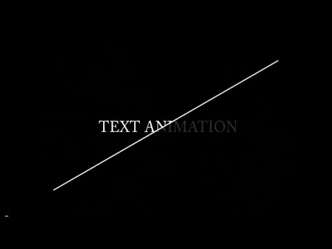 Animating text