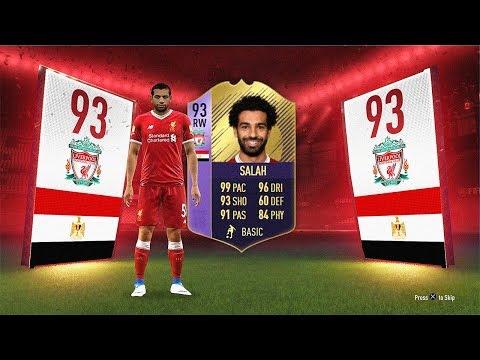 93 RATED POTM SALAH! (VERY CHEAP!) - FIFA 18 Ultimate Team