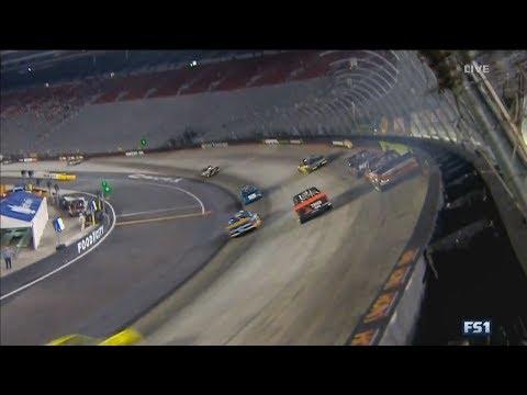 NASCAR Camping World Truck Series 2017. Bristol Motor Speedway. Austin Wayne Self Crash