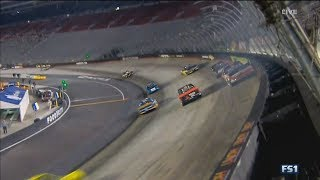 NASCAR Camping World Truck Series 2017. Bristol Motor Speedway. Austin Wayne Self Crash