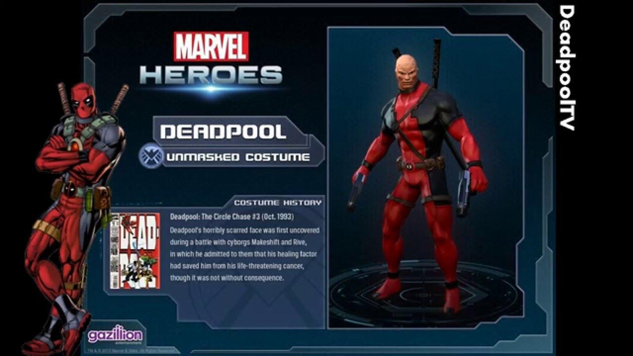 sc 1 st  YouTube & Deadpool - All costumes (Marvel Heroes) - YouTube