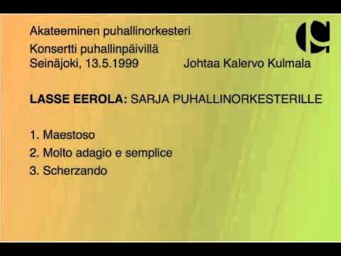 Lasse Eerola: Sarja puhallinorkesterille