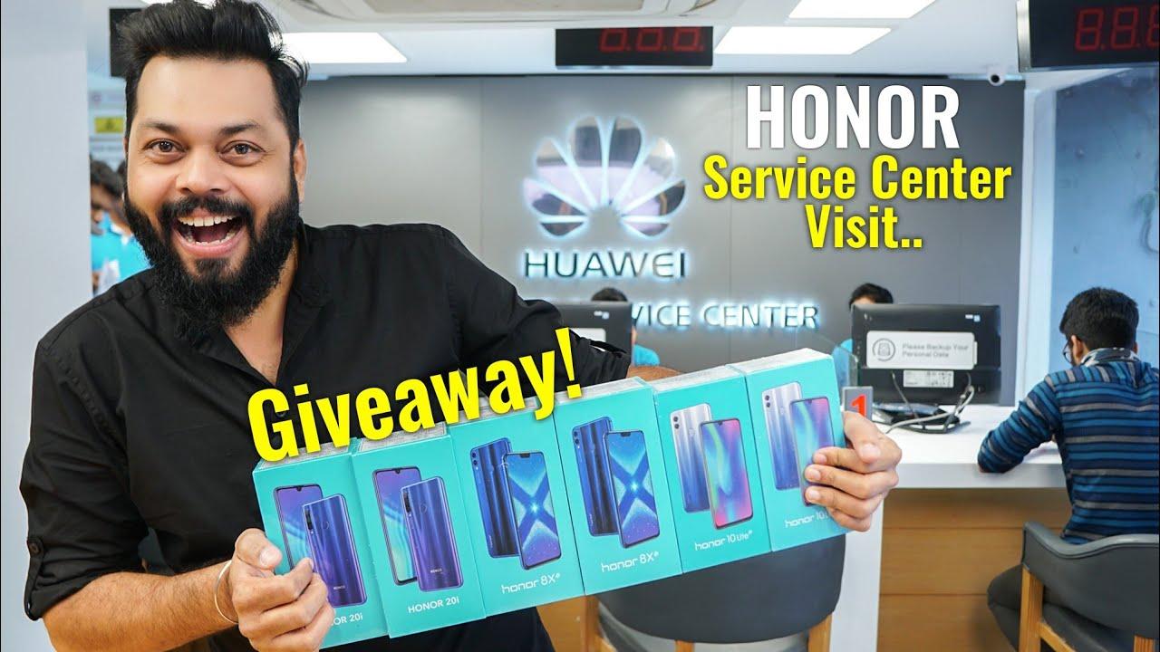 Honor Service Center Visit... Andar ki Baat ⚡⚡⚡ Surprise Giveaway