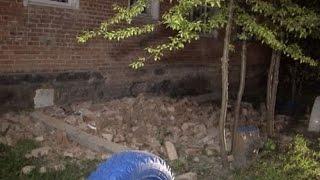В омской пятиэтажке рухнула часть стены