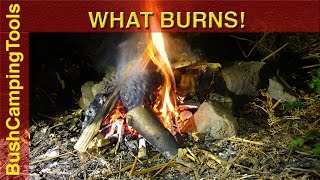 Bushcraft  Tips Highly Flammable Natural Materials.