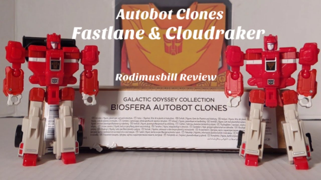 Earthrise Galactic Odyssey Biosfera Autobot Clones Fastlane & Cloudraker Review by Rodimusbill