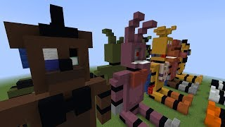 Minecraft FNAF Plush | FNAF 2 Withereds (Speed Build)