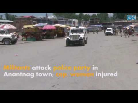Militants attack police party in Anantnag town; cop, woman injured