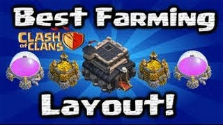 Clash Of Clans -  Base Build Friday Town Hall 9 Pats Playground Farming Base!
