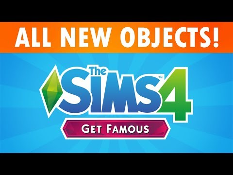 The Sims 4 GET FAMOUS - ALL BUY/BUILD OBJECTS! (SimsCamp 2018) thumbnail
