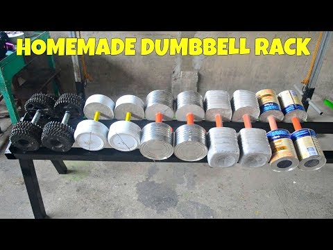 Homemade Dumbbell Rack