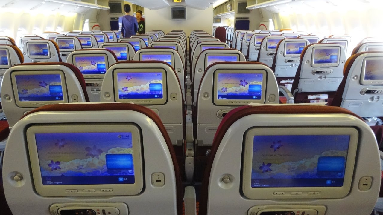 Thai Airways Boeing 777 300er Bangkok Shanghai Youtube