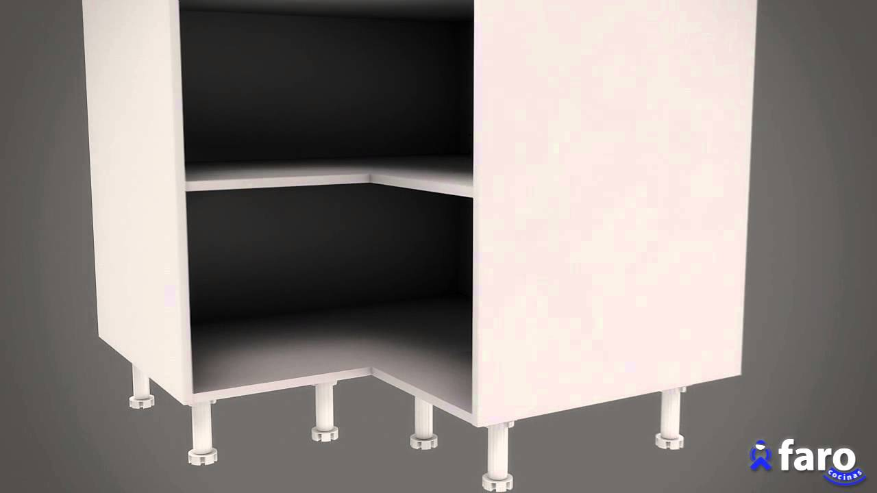 Instrucciones de montaje de mueble bajo rinc n l 2 puertas for Mueble tv esquina