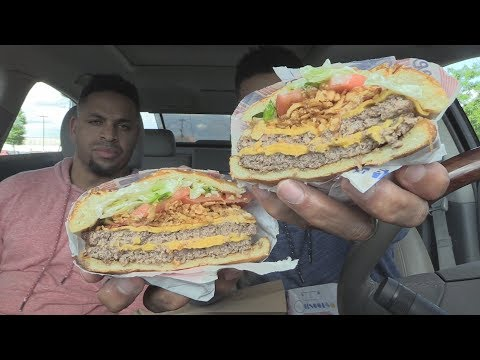 Eating Burger King American Brewhouse King @hodgetwins