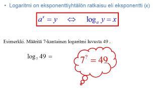 Logaritmifunktio