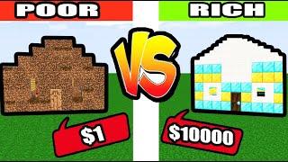 Monster School : poor VS rich sad story minecraft animation