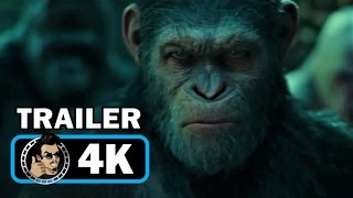 WAR OF THE PLANET OF THE APES Official Trailer (2017) Andy Serkis Action Movie [4k Ultra HD]