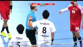 ハンドボール アジア選手権 準決勝 日本vsバーレーン 後半