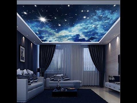 3d Stretch Ceiling Wallpaper Ceiling 3d Effect Wallpaper On Roof Trending Spot Youtube