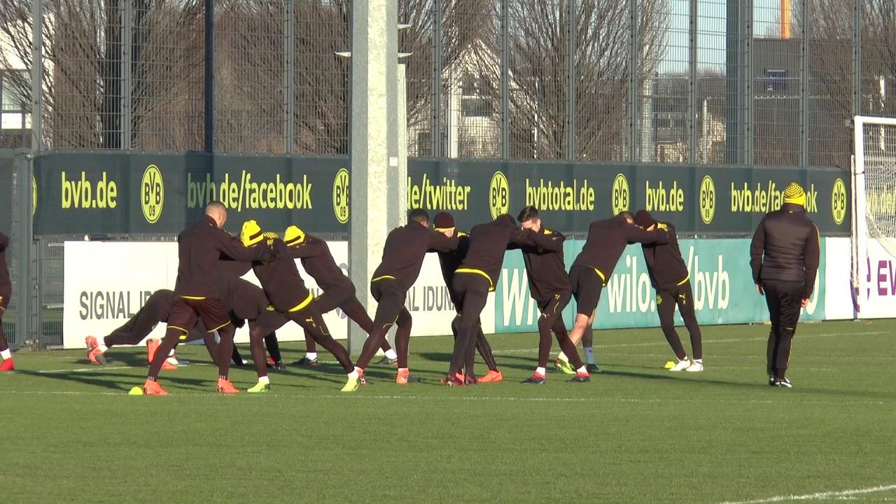 BVB-Abschlusstraining vor dem Heimspiel gegen Bergamo