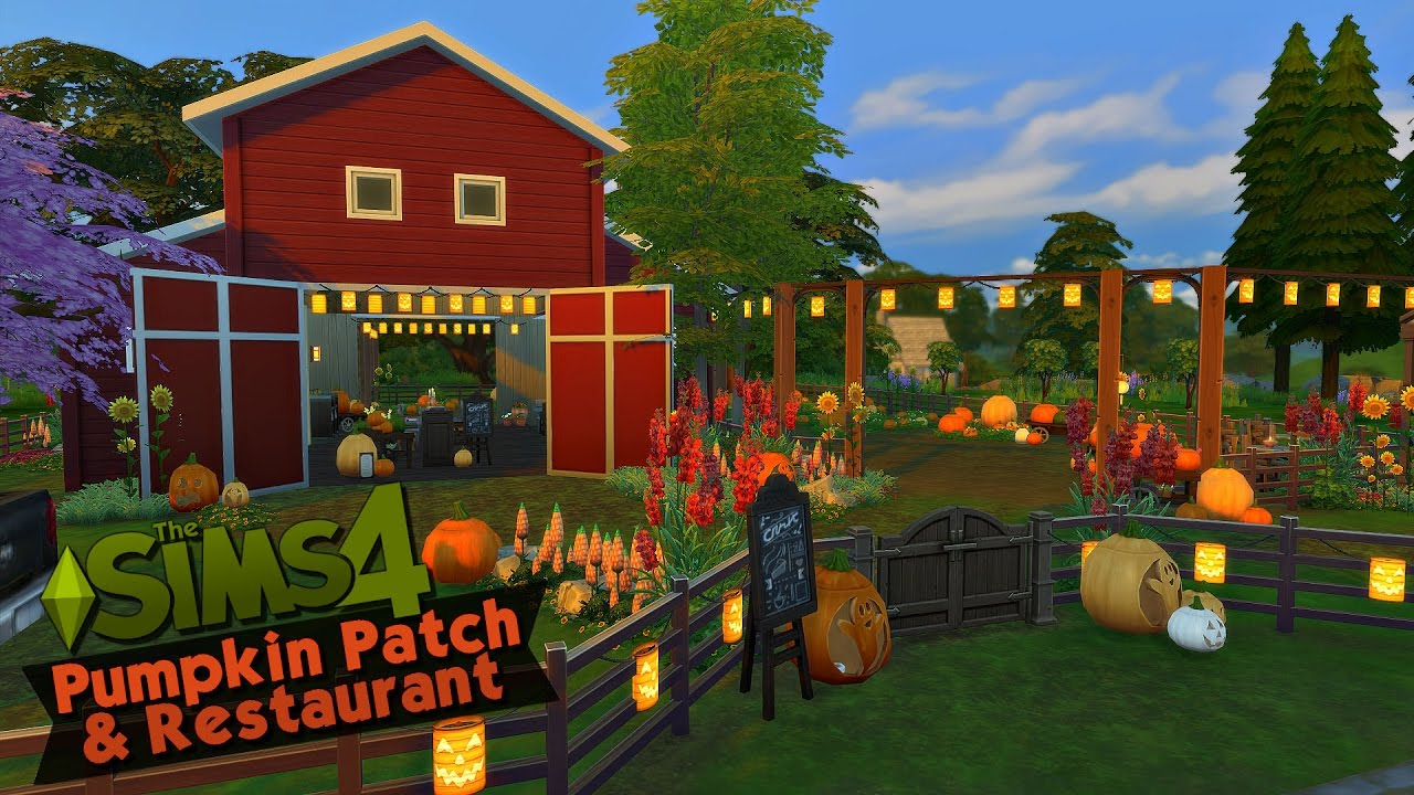 The Sims 4 Speed Build Pumpkin Patch Amp Restaurant Youtube