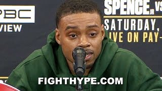 "(WHOA!) ERROL SPENCE SAVAGELY THREATENS ""COCKY"" GARCIA WITH ""ONE-SIDED MASSACRE""; VOWS TO PUNISH HIM"