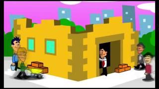 Den cartoon von Skilla auf dem Dritten Kanal Show von Sky