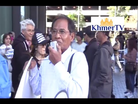 Khmer in Long Beach protest against Mr. Hun Manet -Record By