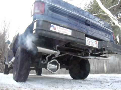 1978 Chevy Silverado K20 New Exhaust - YouTube