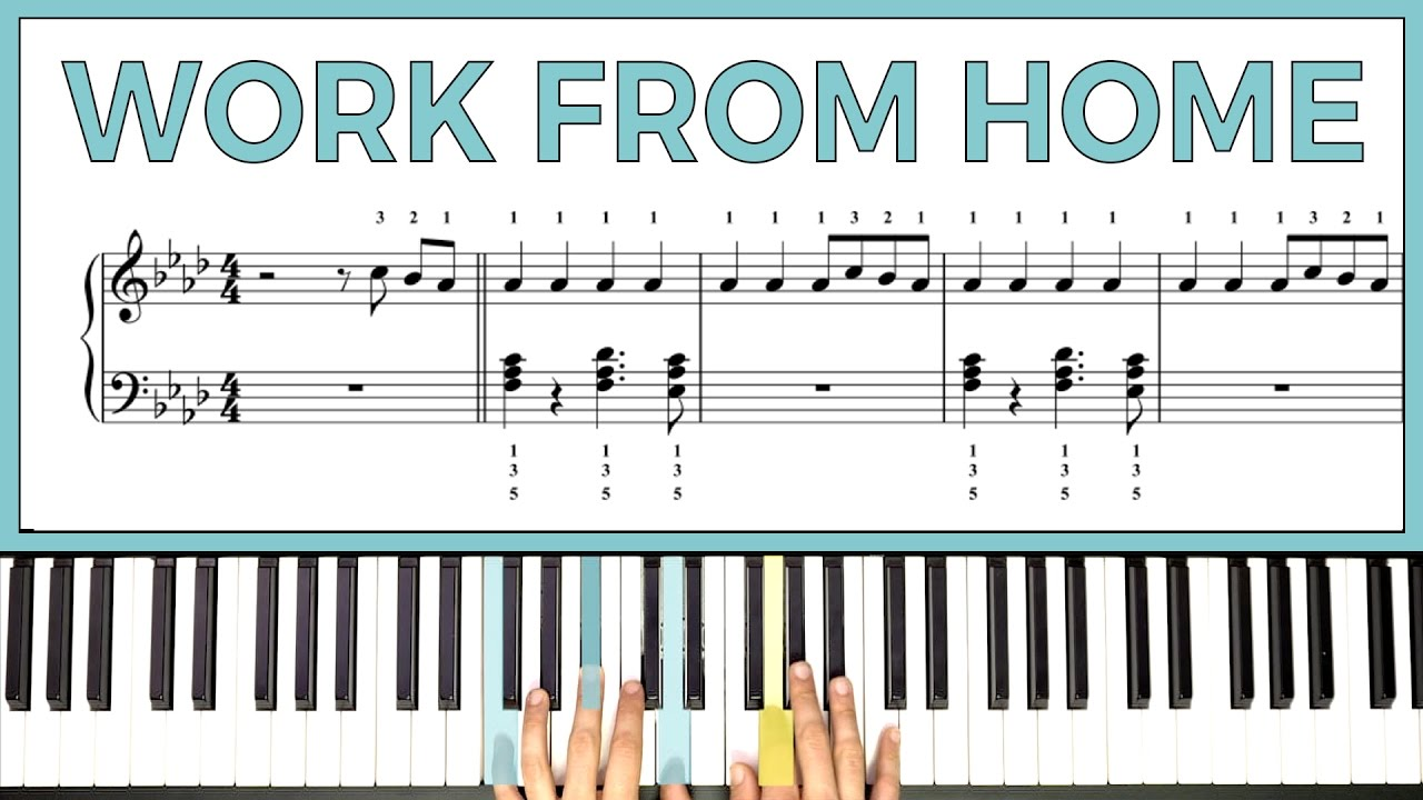 "How To Play the Chorus to ""Work From Home"" by Fifth Harmony: YouTube"