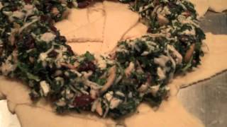 Turkey, Spinach and Cranberry Wreath