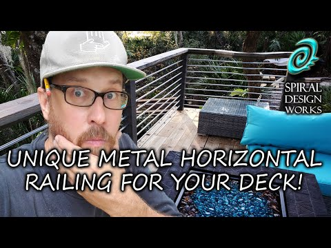 Unique Conduit Metal Baluster and Deck Rebuild