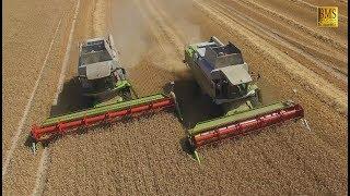Getreideernte beendet! -Parallelfahrt- Gardelegen - two combine harvester - cereal harvest finished