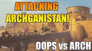 Albion Online ZvZ - Attacking ARCH in ARCHganistan! Albion Online Huge PVP! OOPS vs ARCH!