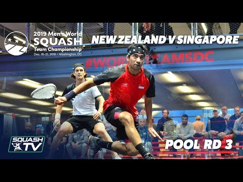 Squash: New Zealand v Singapore - Men's World Team Champs 2019 - Pool Rd 3 Highlights