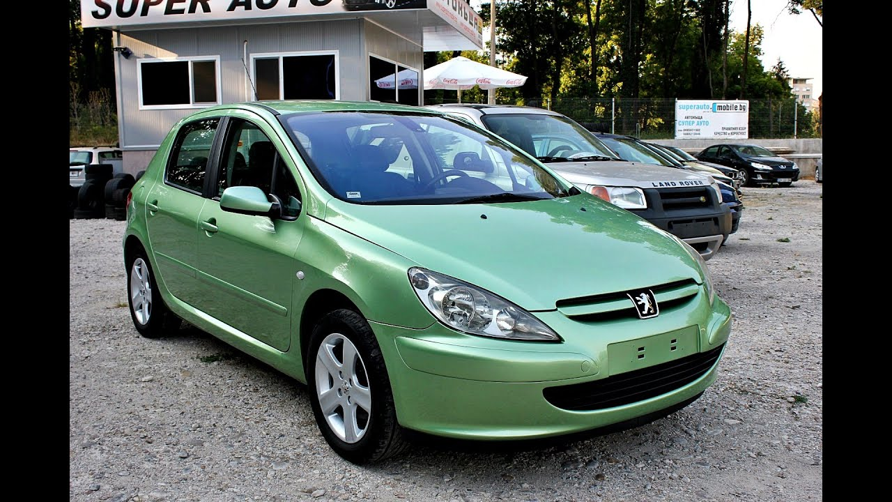 peugeot 307 2002 green petrol - youtube