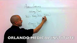 Pediatric Amiodarone Drug Calculations - Paramedic Skills Review