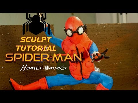 How to sculpt Spider-man Homecoming - Clay Tutorial
