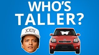 Is It Taller Than Bruno Mars? | Tap That Awesome App
