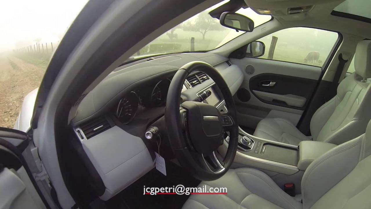 Range Rover Evoque Interior Cirrus Polar Gopro Hd3 Black Edition Accesorio Cabeza Youtube