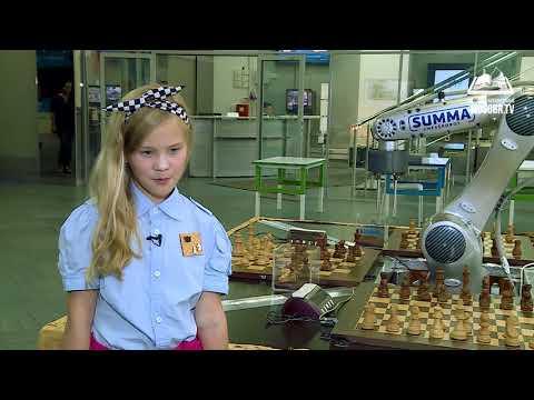 юная шахматистка